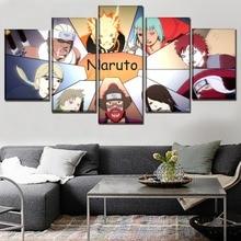 Home Decorative Wall Art Picture 5 Panel Game Naruto Shippuden Ultimate Ninja Storm Jinchuriki Poster Canvas Print Painting цены