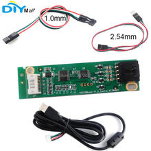 цена на 4 Wire Resistive USB Touch Panel Screen Controller Driver Board USB Cable