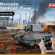 Новое поступление, комплект танков из нержавеющей стали с дистанционным управлением, набор военных танков, набор кирпичей, совместимых с моделями строительных блоков