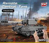 SW(RC) 006 Stainless Steel Assembly IR Remote Control Tank Kit Develop Imagination and Assembly Skills