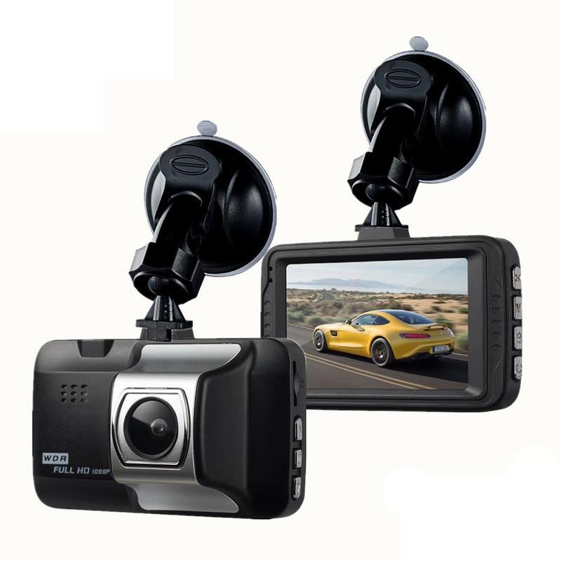 Profesional del coche Dash Cam 1080 p 3 pulgadas cámara HD grabadora de conducción 170 ancho ángulo tablero DVR vehículo G- sensor de plástico ABS