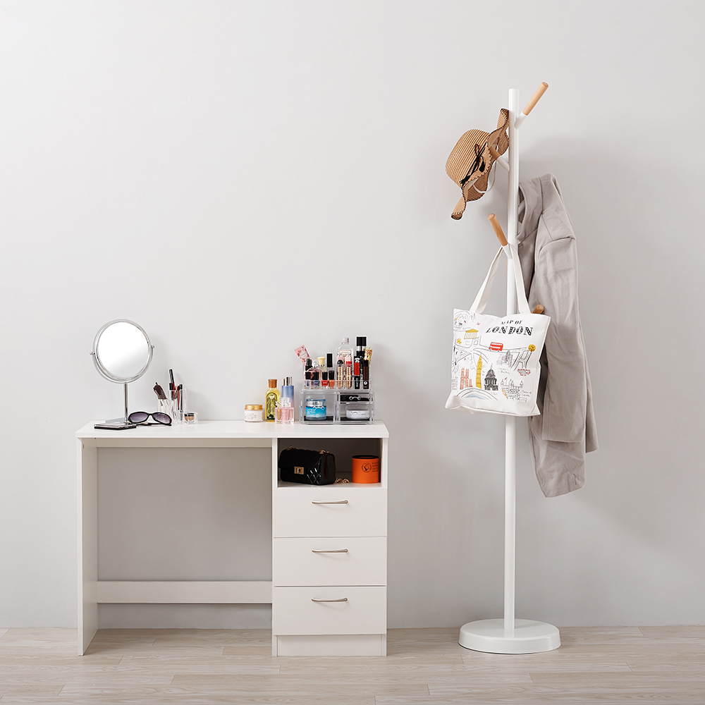 Only Ship To Uk Panana Bedroom Make Up Table Computer Desk Office Workstation Laptop PC Table 3 Drawer Cabinet / Dressing Table