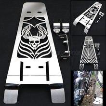 Capa de radiador de aço inoxidável, capa polida de crânio de motocicleta, proteção para yamaha xv1600 xv1700, estrela selvagem