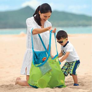 أمي الطفل حقائب الشاطئ كبير حجم النساء الاطفال شبكة حقيبة حقيبة ساع لعبة أداة تخزين يد الحقيبة حمل الأطفال حقيبة كتف