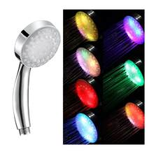 1 Pc LED Color Changing Shower Head Handheld High-Pressure Water Temperature Controlled with Pressure-Boost Nozzle Shower Head(China)
