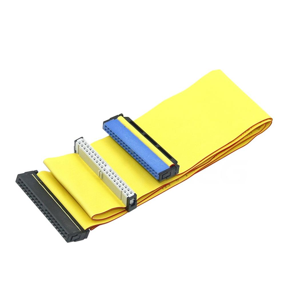 """80cm 3.5"""" IDE ATA 40 Pin Hard Drive Ribbon Cable Computer Extension Wire Connector Dual Device"""