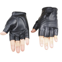 2019 New Style Mens Leather Driving Gloves Fitness Half Finger Tactical Black Guantes Luva tactical gloves men