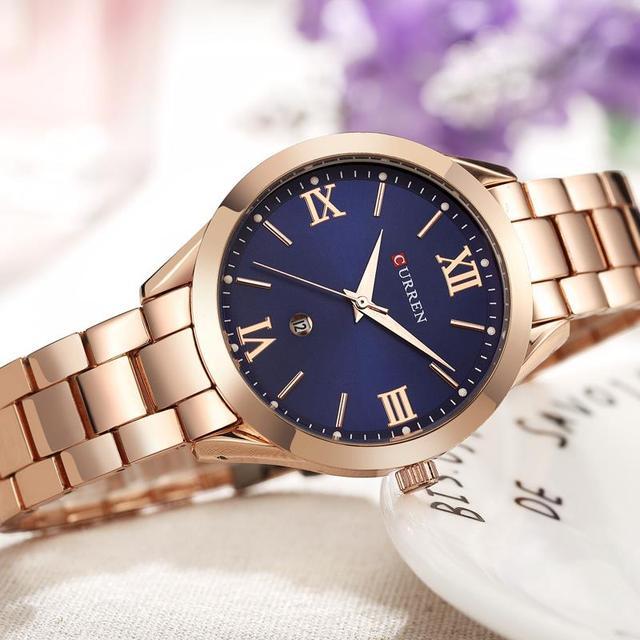 CURREN 9007 Luxury Women Watch Famous Brands Gold Fashion Design Bracelet Watche