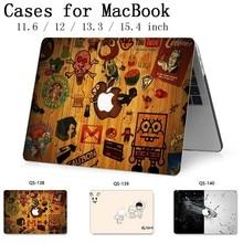 MacBook Hava Pro Retina 11 12 13.3 15.4 Inç Notebook Için MacBook Için dizüstü bilgisayar kılıfı Ekran Koruyucu Ile Klavye kapak