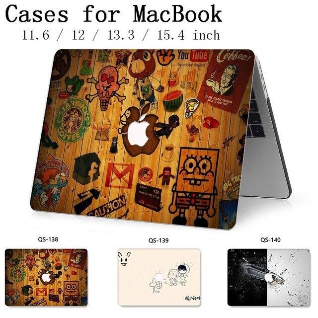 Pour MacBook Air Pro Retina 11 12 13.3 15.4 pouces pour ordinateur portable MacBook Case pour pochette pour ordinateur portable avec écran protecteur clavier Cove