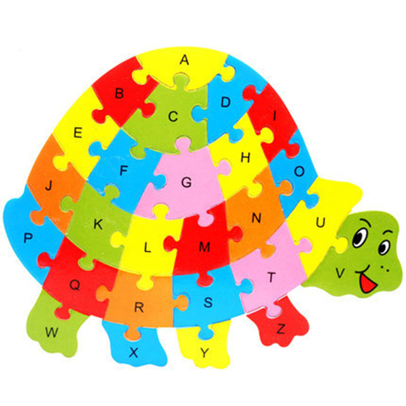 26 Patterns Wooden Animal Alphabet Early Learning Puzzle Jigsaw For Kids baby Educational Learing Intelligent Toys YJS in Model Building Kits from Toys Hobbies