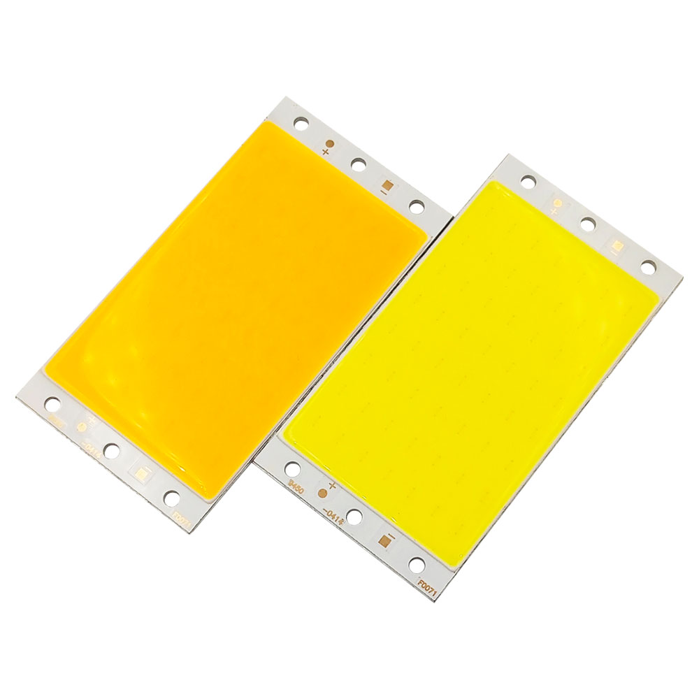 94x50mm 15W LED COB Light Chip On Board Warm Day Pure White Blue Color LED Panel For DIY Outdoor Indoor Bulb Car Lighting Source