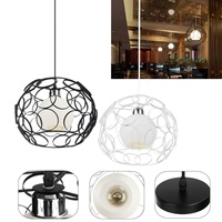 Personality Edison Bulb Pendant Lamps Restaurant Bar Cafe Lamps Rattan Field Pasta Ball E27 LED Pendant Light Modern Decor Light
