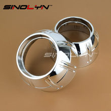 """SINOLYN Bullet Style HID Projector Shrouds Masks Hoods Bezels for Projector Lens Retrofit Fit 3.0"""" 2.5 inch Lens Q5 E5 WST"""