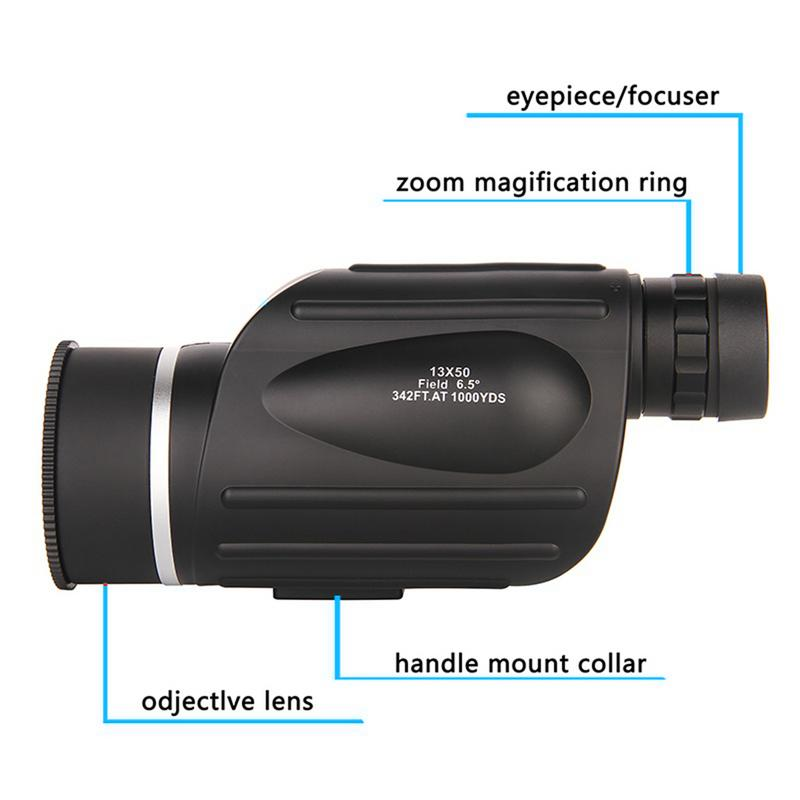 Image 3 - 13x50 HD Monoculars Waterproof Rangefinder Binoculars Telescope Monocular night vision monocular for Outdoor Hunting Travel Camp-in Monocular/Binoculars from Sports & Entertainment