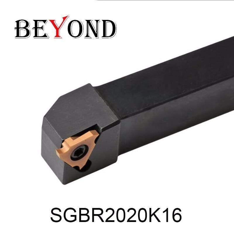 BEYOND SGBR SGBR2020K16 SBGL2020K16 20x20 Grooving Cutting Lathe Turing Tool Holder SGBR2020 TGF32R TGF32L Carbide Inserts CNC