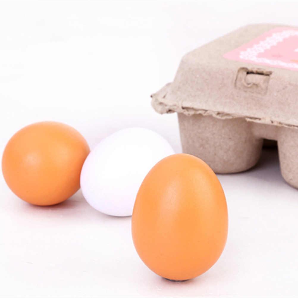 2019 新 6 ピース/セット木製ための卵のおもちゃ子供女の子のおもちゃキッチンおもちゃミノキシジルのための商品を再生ふりキッチン酵母