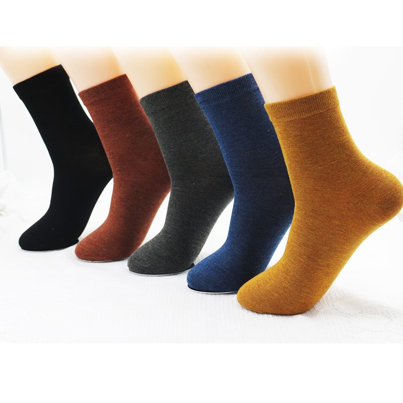 New women's bamboo fiber colorful fashion casual   socks   Harajuku solid color black white cheap   socks   wholesale 5 pairs