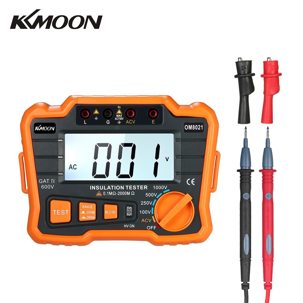 KKmoon Insulation Resistance Tester DCV ACV Meter 1000V Ground Megger Megohmmeter MegOhm Voltmeter w LCD Backlight
