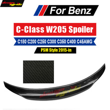 цена на For Mercedes Benz W205 Rear Spoiler Wing Tail AEPSM-Style Carbon For Benz C-Class c180 c200 c300 c350 c400 Trunk Wing 2-door 15+