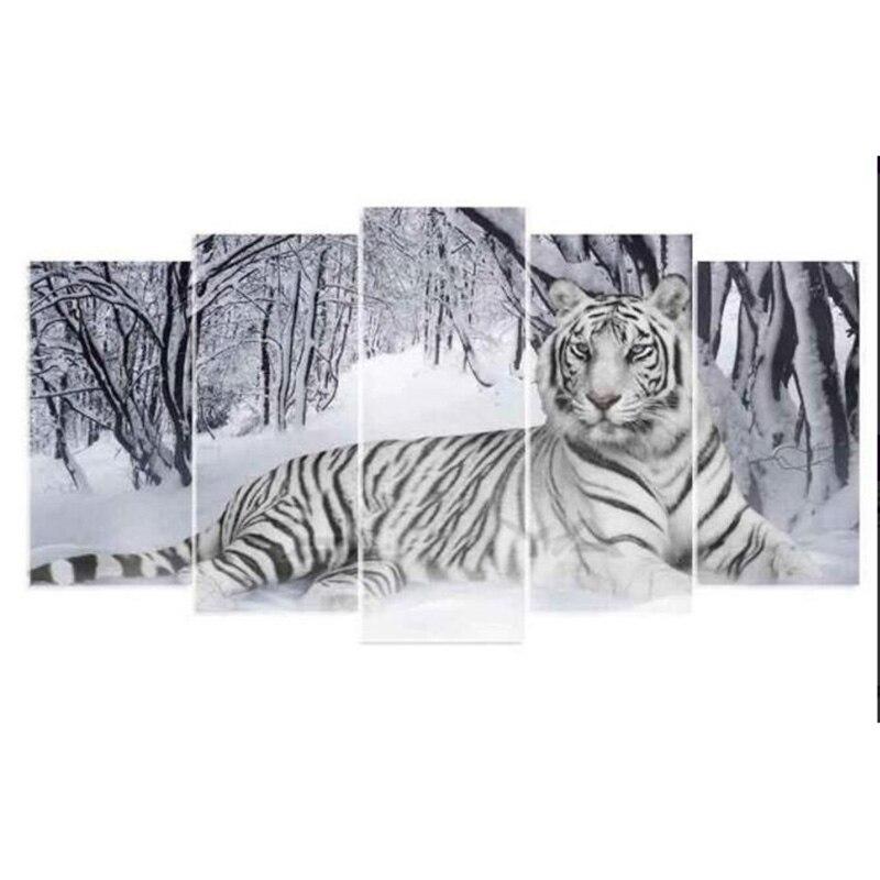 Square Full Diamond Painting 5 Luiks White TigerSquare Full Diamond Painting 5 Luiks White Tiger