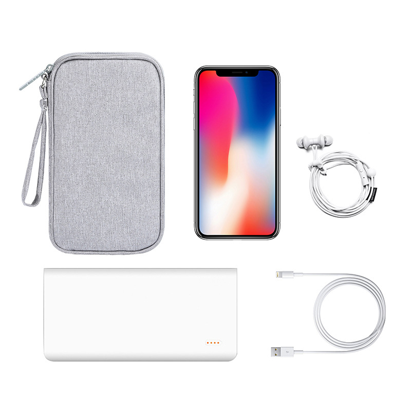 BalleenShiny Portable Power Source Storage Bag Digital Cable Data Line Storage Bags Earphone Pouch Outdoor Travel Organizer in Storage Bags from Home Garden