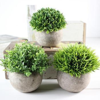 декоративные горшки для растений | Adeeing имитировать растение в горшках милый бонсай Microlandschaft офис отель украшения