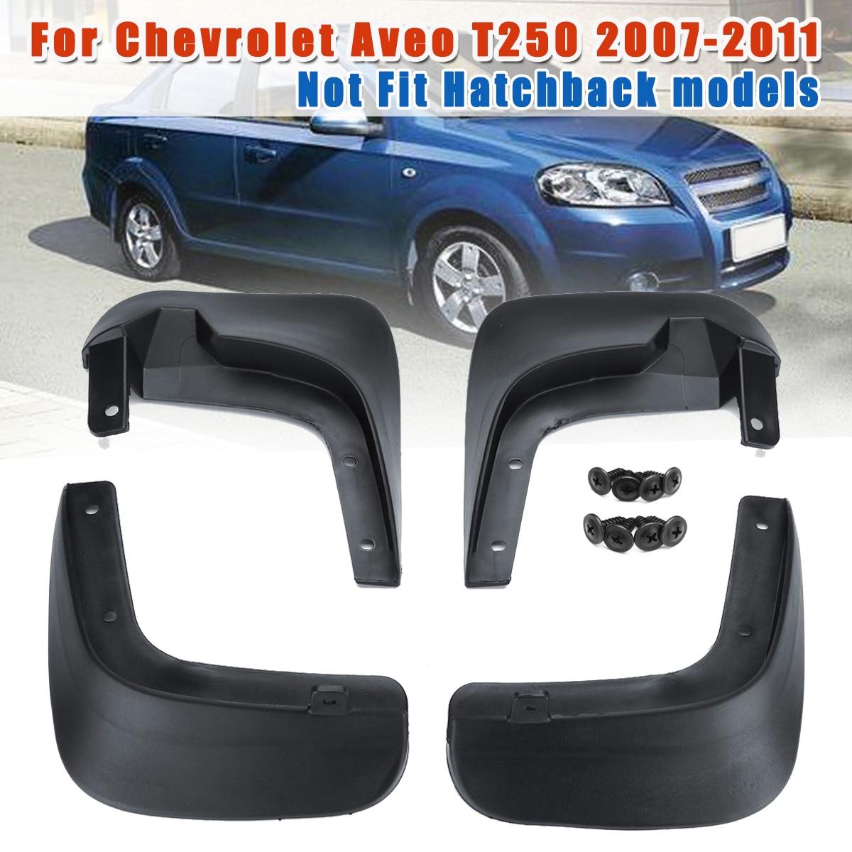 עבור שברולט Aveo T250 2007 2008 2009 2010 2011 רכב מגיני בץ קדמי אחורי זיקוקי כנף אוטומטי Mudflaps מגני בץ Splash משמר