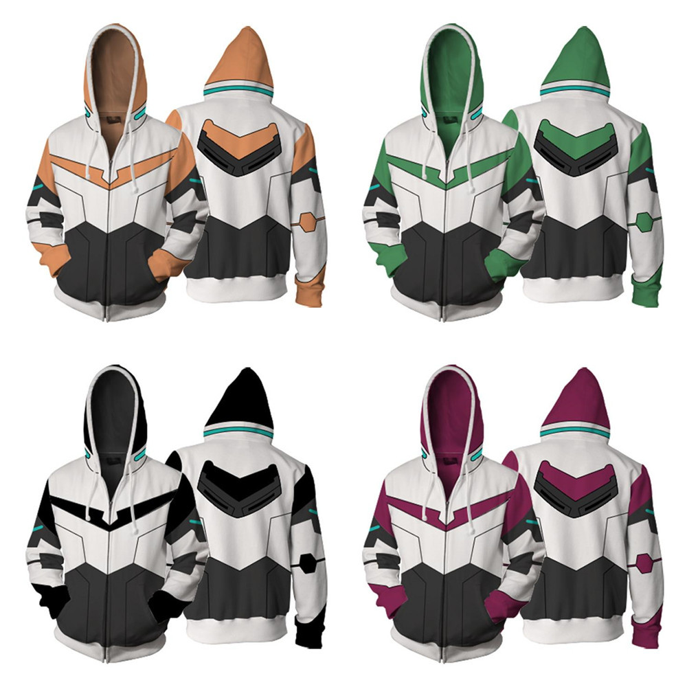 Japan Anime Sweatshirts lance jacket voltron legendary defender cosplay Halloween Carnival Men Women Costume 3d Printing Hooded