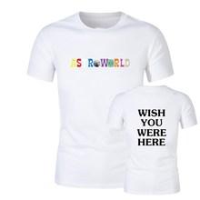 Travis Scott Astroworld GOV BALL NYC 2019 t shirt fashion streetwear Mens and Womens Cotton tshirt print letter Shirt S-2XL