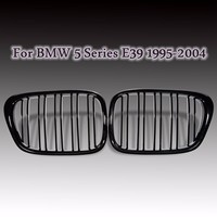 Pair Gloss Black Auto Front Kidney Grille Grilles For BMW E39 M5 5 Series 525i 528i 530i 540i 1995 1999 2000 2001 2002 2004