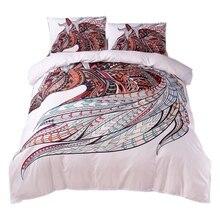 JEYL Horse постельные принадлежности набор Hd Печать племенных лошадей пододеяльник набор двойной полный королева король 3 шт. постельные принадлежности