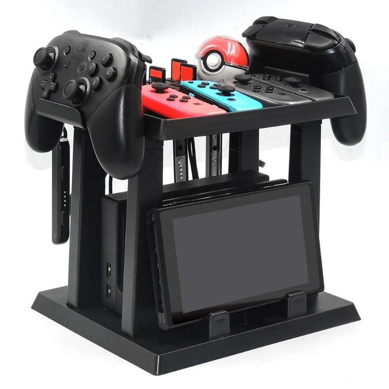 ALLOYSEED Game Disc Gamepad Storage Bracket Holder Tower Joystick Carrying Stand for Nintend Switch Poke Ball Plus Game StandALLOYSEED Game Disc Gamepad Storage Bracket Holder Tower Joystick Carrying Stand for Nintend Switch Poke Ball Plus Game Stand