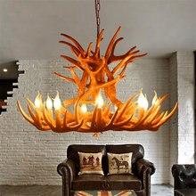 Скандинавская светодиодная люстра в виде рогов лампа американском