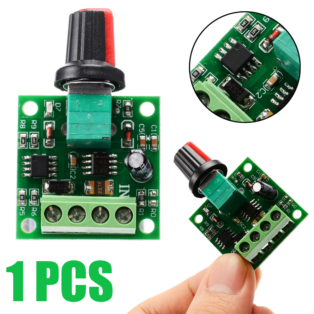 Voltage DC 1.8V 3V 5V 6V 12V 2A Motor Speed Controller Governor PWM Adjustable Switch Motor Controller