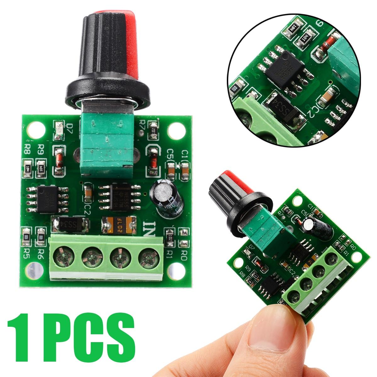 Voltage DC 1.8V 3V 5V 6V 12V 2A Motor Speed Controller Governor PWM Adjustable Switch Motor Controller