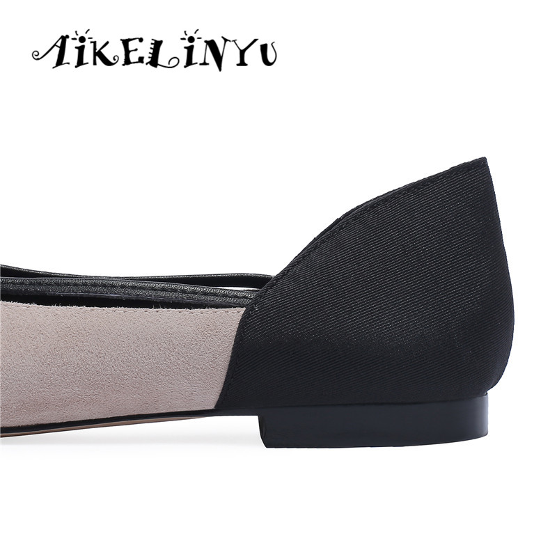 Pour Aikelinyu Bureau apricot Chaussures Confortable Noir Mocassins Plats Plates Printemps Véritable Élégant Carrière Femmes En Cuir Arc Mode Baskets yvOPnmN80w