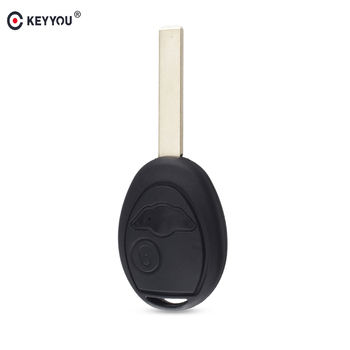 KEYYOU 20pcs Remote Key Case Shell Fob Cover For BMW Mini Cooper R50 R53 Alarm Systems Security 2 Buttons Car Blank Key
