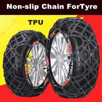 Snow Chains Car Tyre Snow Chain 1 Set 6pcs Auto For Tyre Model 175/65r14 175/70r14 175/75r14