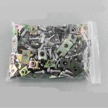 500pcs Car U Type gasket fender metal clips body door panel fastener fixed screw Mixed