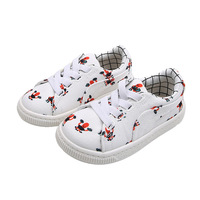 Kids Shoes 2019 Spring Floral Printing Canvas Children Sneakers Elastic Band One Pedal Skate Sport Trainer 1 2 4 6 10 Years