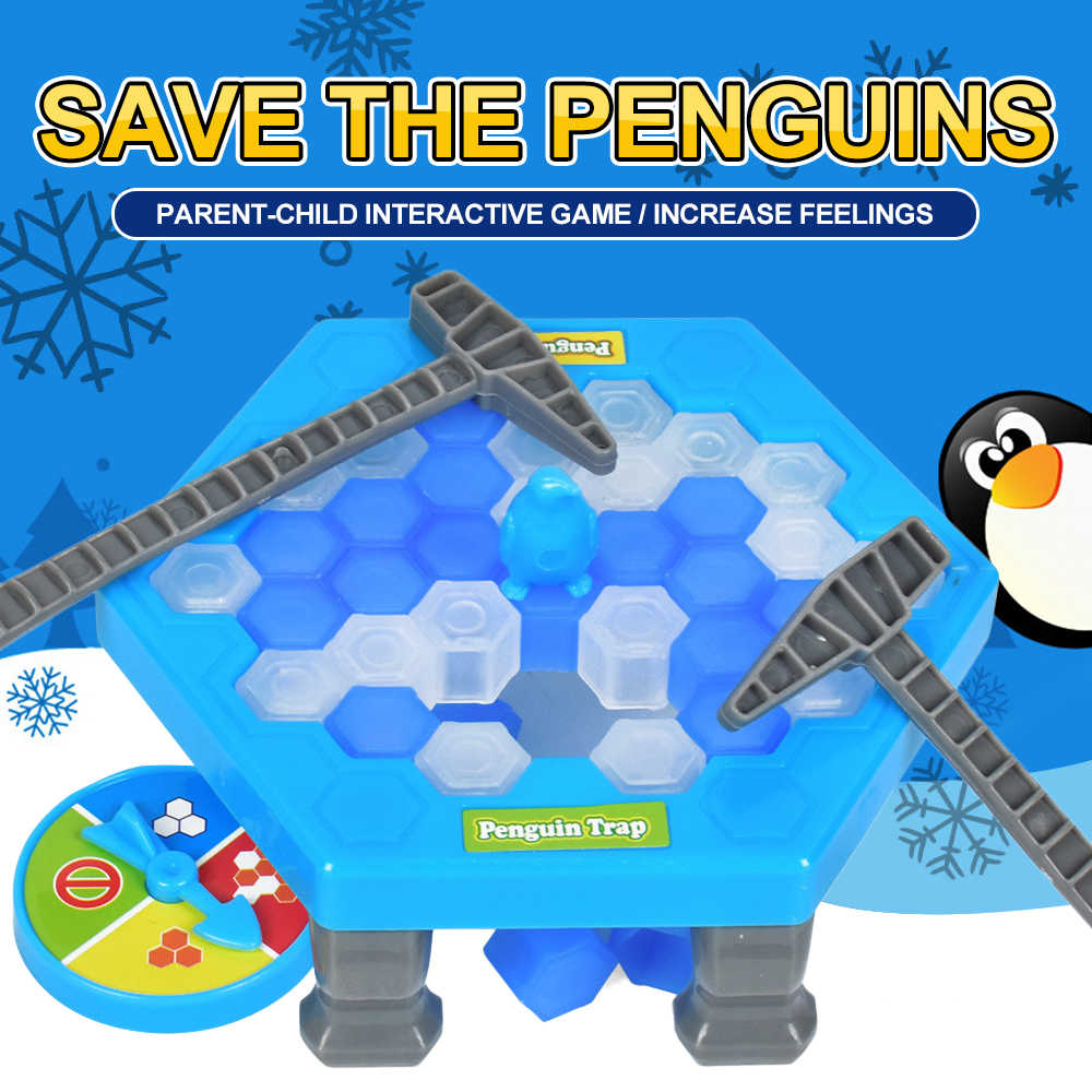 Hot Save Penguin Ice Kids Puzzle Game Break Ice Block Hammer Trap Classic Party Game Toys Penguin Trap Interactive Funny Game