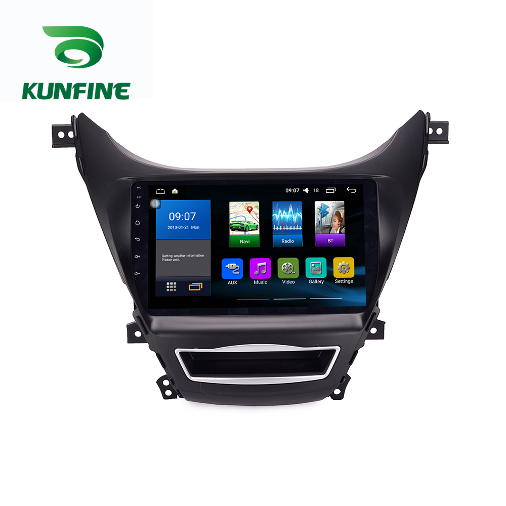 Octa Core 1024*600 Android 8.1 Car DVD <font><b>GPS</b></font> Navigation Player Deckless Car Stereo For <font><b>Hyundai</b></font> <font><b>Elantra</b></font> MD 2011-13 Radio Headunit image