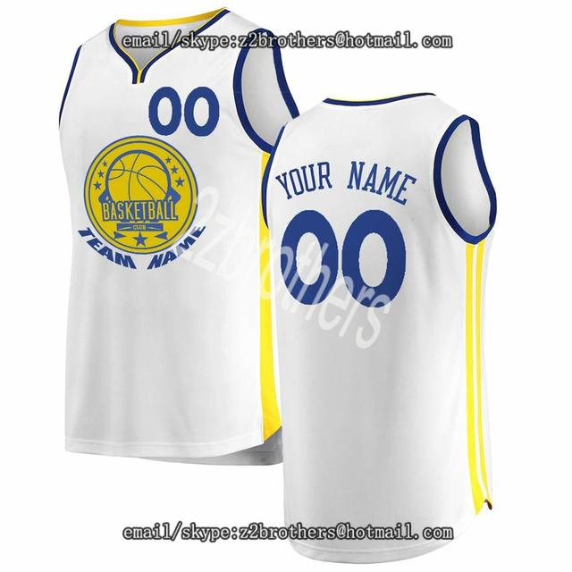 442c223ce Custom Golden State Basketball Jersey Personalized High School College  Embroide Your Own Team Logo Any Name