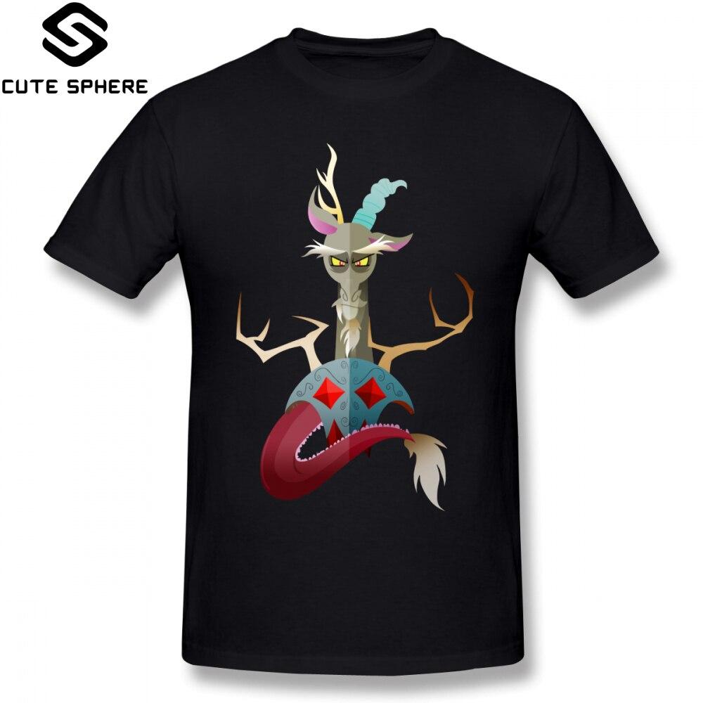 My Little Pony T Shirt Discord T-Shirt Short-Sleeve 100 Cotton Tee Shirt Oversize Men Print Casual Awesome Tshirt
