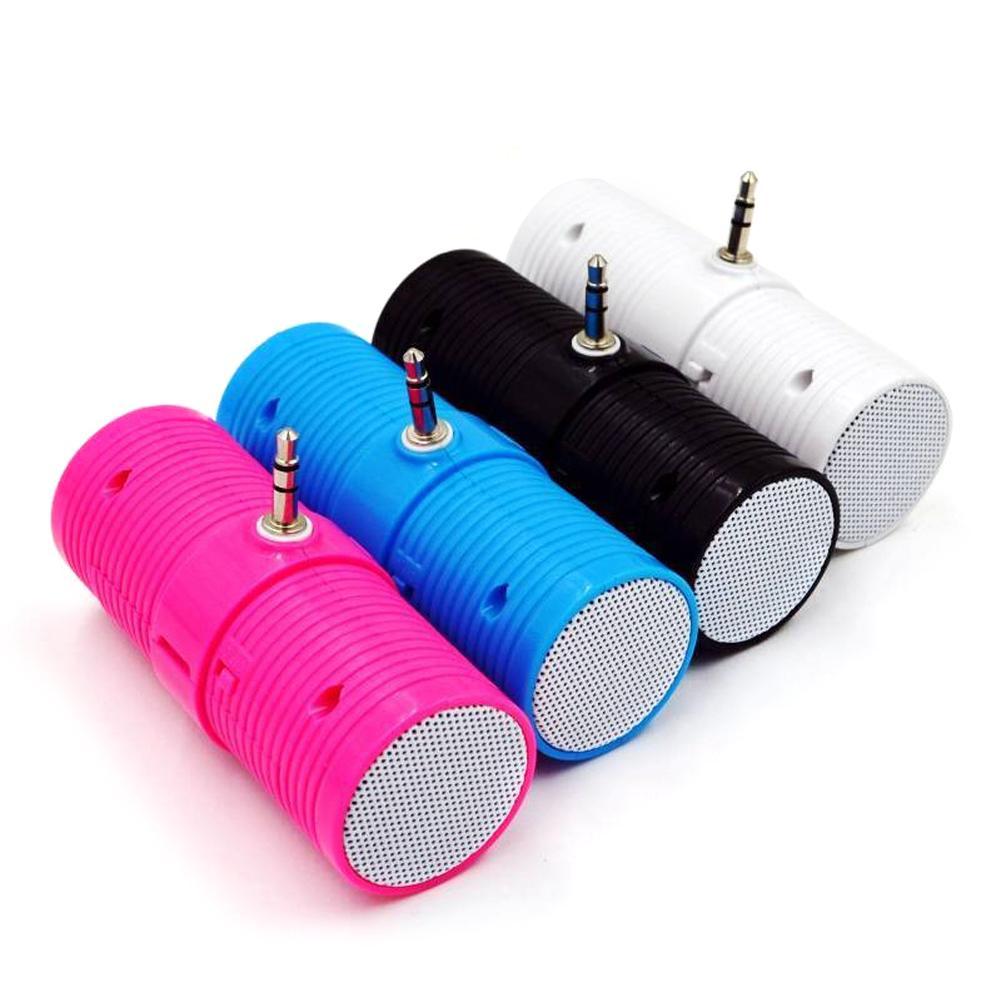 3.5MM In   Line Stereo Mini Speaker Portable Speaker MP3 Music Player Speaker For Mobile Phones Tablets Direct Insert Speaker-in Portable Speakers from Consumer Electronics