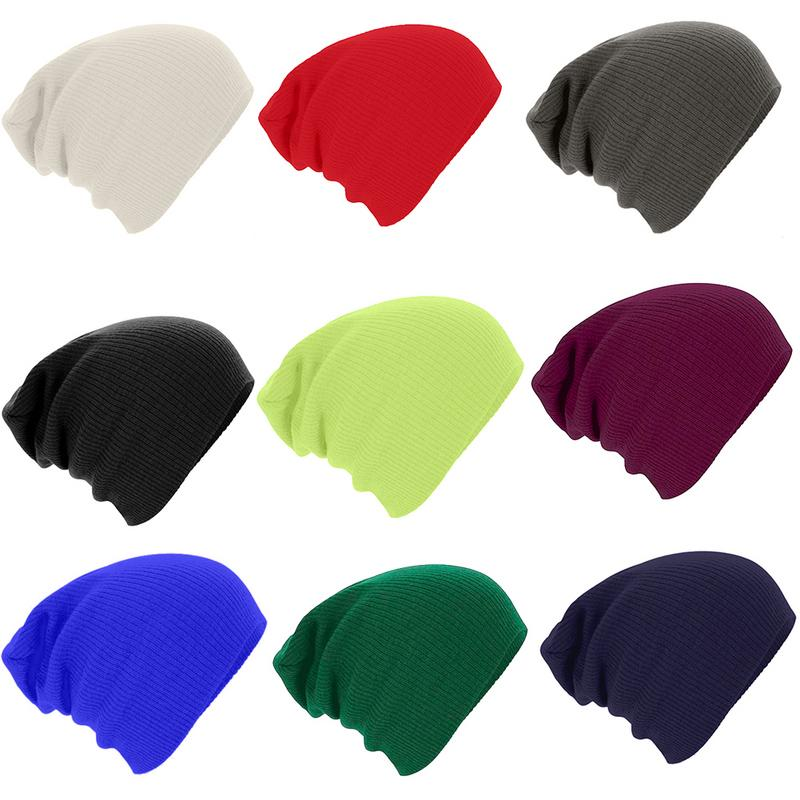 1 Pcs Solid Hat Casual Beanies for Men Women Unisex Caps Keep Warm Knitted Winter Hat Fashion Solid Hip-hop Beanie Hats
