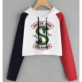 ba948f2d Eventos de la PU chaquetas de cuero de las mujeres serpientes de Southside  Moto Biker abrigo Cosplay