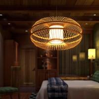 SETTEMBRE Modern Wood Lamp Modern Lamp Nordic Bamboo Lamp Living Room Light Dining Room Lights Fabric Shade Hanging Lighting
