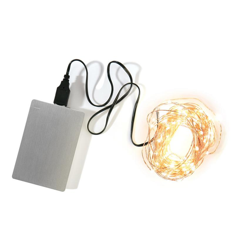 USB 10M 100Led Colorful Manual Copper String Light LED Lamp For Party Holiday Lighting Fairy Christmas